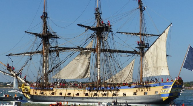 Replica French Tall Ship Hermione in Alexandra, VA on Wednesday, June 10 – Friday June 12